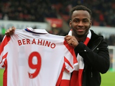 Berahino faced with Stoke exit after charge. AFP