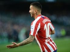 Ángel Correa es el primer '10' del Atleti en brillar desde Arda Turan. AFP/Archivo