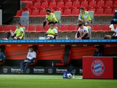 A máscara deixa de ser obrigatória na Bundesliga. AFP
