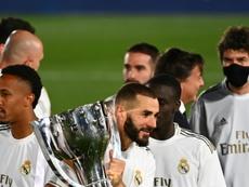 Le Graët félicite Benzema. AFP