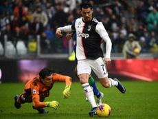 Cristiano marcó de penalti. AFP