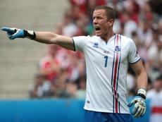 Halldorson a arrêté le penalty frappé par Messi. AFP