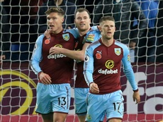 Hendrick pictured scoring against Newcastle in 2017. AFP