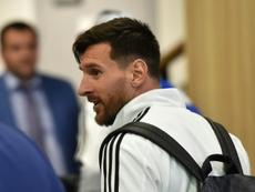 Messi habría aconsejado la llegada de Salah. AFP