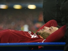 Chamberlain suffered the injury against Roma. AFP