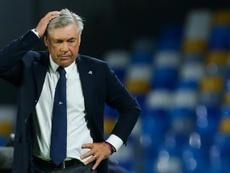 Ancelotti não é mais o técnico do Napoli. AFP