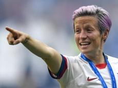 O Real poderia ganhar a disputa com o Barça por Rapinoe. AFP