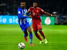 Kalou se disculpa tras saltarse las medidas de seguridad y el Hertha le sanciona. AFP