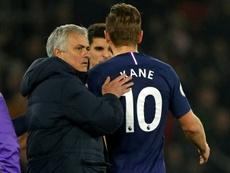 Jose Mourinho and Kane. AFP