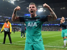 Alderweireld on the night Spurs defeated Man City in the Champions League. AFP