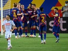 El Barça, el último bastión de LaLiga en Champions. AFP