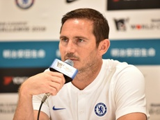 Frank Lampard habló de nuevo de Hudson-Odoi. AFP
