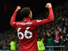 Alexander-Arnold looks set to rejoin the squad in a few weeks time. AFP