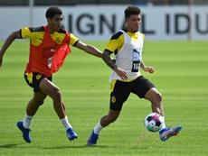 El Borussia quiere que el United se olvide de él. AFP