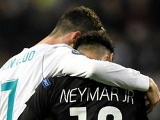 Ronaldo et Ney, les deux joueurs qui valaient de l'or. AFP