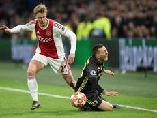 De Jong a encensé Cristiano. AFP