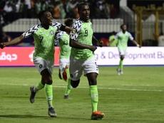 Odion Ighalo fue la estrella de Nigeria con dos goles y una asistencia. AFP