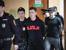 Pavel Mamaev y Alexander Kokorin pasarán año y medio entre rejas. AFP/Archivo