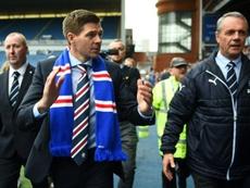 Gerrard's Rangers through to Europa League play-off. AFP