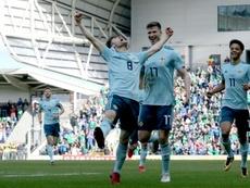 Smyth scored a late winner over South Korea. AFP