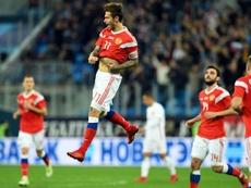 Smólov confirmó todo lo bueno que apunta ante España. AFP