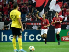 El Urawa Red Diamonds deja a Paulinho al borde del abismo. AFP