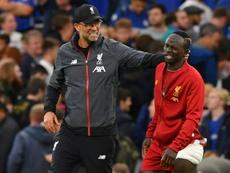 En el Liverpool están convencidos de que Mané no fichará por el Real Madrid. AFP