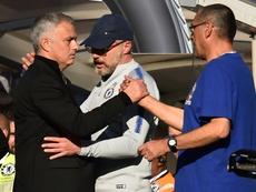 Jose Mourinho Chelsea-United. AFP