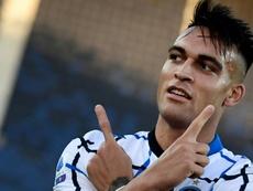 Lautaro podría extender su contrato hasta 2026 en apenas un mes. AFP