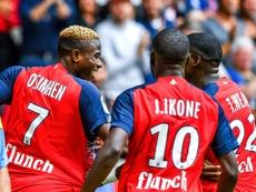 Los dos futuros 'cracks' de la fábrica de talentos del fútbol francés. AFP