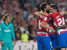 El Granada venció a todo un Barcelona. AFP
