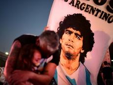 Claudia habló de la muerte de Maradona. AFP