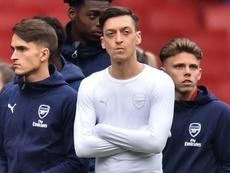Özil está sin minutos en el Arsenal. AFP