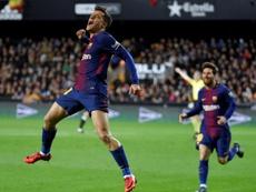 Coutinho ya ha conseguido su primer gol con el Barça. AFP