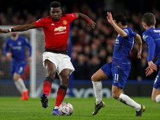 Paul Pogba was back to his best as Manchester United overcame Chelsea. AFP