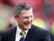 Criag Levein is not happy with the charge. AFP