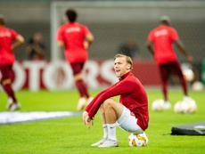 Emil Forsberg parece llamado a abandonar el RB Leipzig. AFP/Archivo