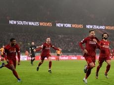 El Liverpool, el rey del último arreón. AFP