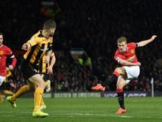 James Wilson deve deixar o Manchester United. AFP