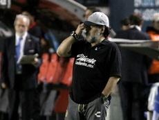 Maradona analizó el partido ante San Luis. EFE