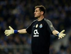 Casillas repasó su trayectoria como meta en la élite. AFP