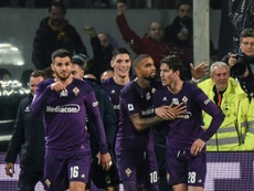Fiorentina have faith in Vlahovic (R). AFP