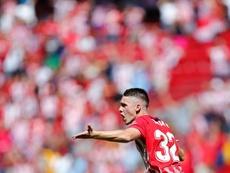 Borja Garcés, la gran ilusión del fútbol melillense. AFP