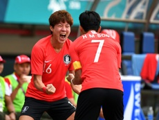 Son Heung-min, who is in Indonesia chasing a gold medal. AFP