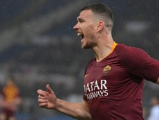 Edin Dzeko will accept reducing his salary to play for Inter. AFP