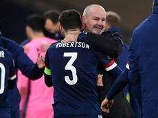 Andy Robertson logró colarse en la Eurocopa en el último suspiro. AFP