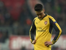 Mesut Ozil reacts during the UEFA Champions League. AFP