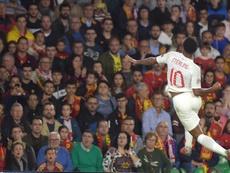 Sterling se lució con un partido espectacular ante España. AFP