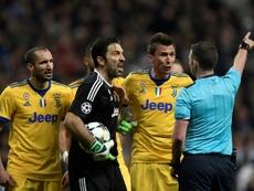 Buffon foi castigado pela UEFA. AFP