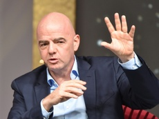 Infantino confirmed that the 2021 Club World Cup will be moved. AFP